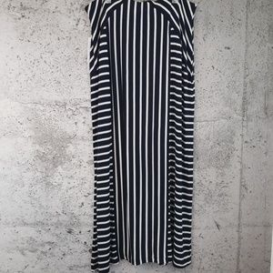 TRIBAL Striped Maxi Skirt NWT Ink